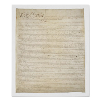 United States Constitution History Classroom Poster