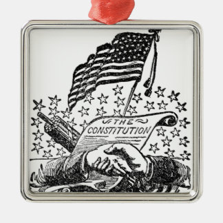 United States Constitution Metal Ornament
