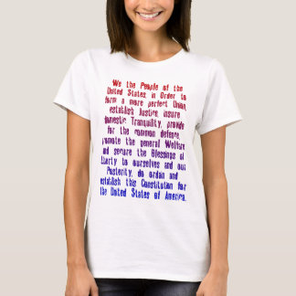 UNITED STATES CONSTITUTION PREAMBLE T-Shirt