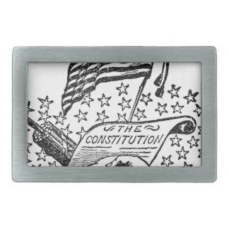 United States Constitution Rectangular Belt Buckle