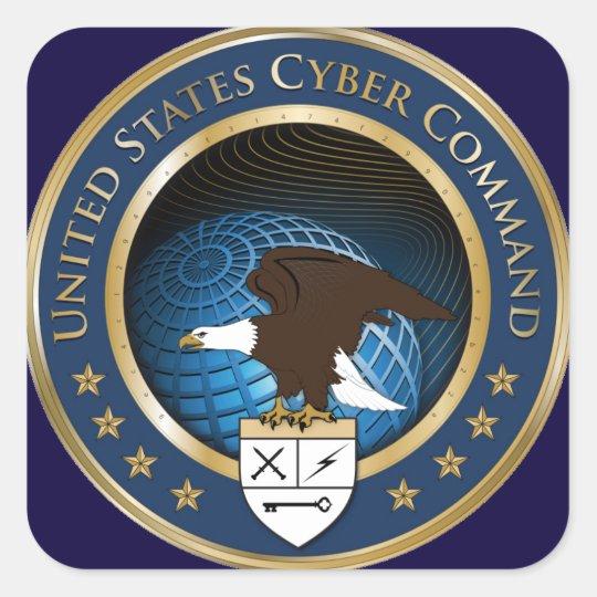 UNITED STATES CYBER COMMAND SQUARE STICKER