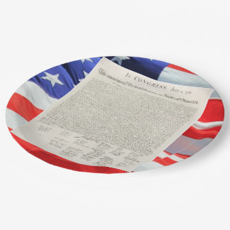 United States Declaration of Independence Vintage 9 Inch Paper Plate