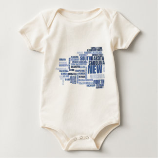 United States Divided We Fall HQ Apparel Baby Bodysuit