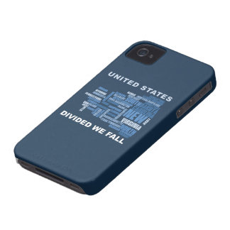 United States Divided We Fall HQ Colored Gifts iPhone 4 Covers