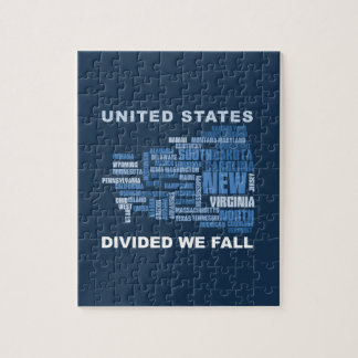 United States Divided We Fall HQ Colored Gifts Jigsaw Puzzle