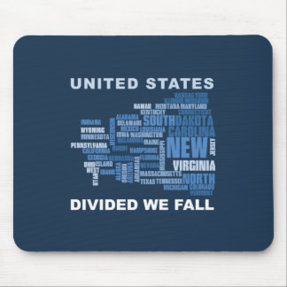 United States Divided We Fall HQ Colored Gifts Mouse Pad