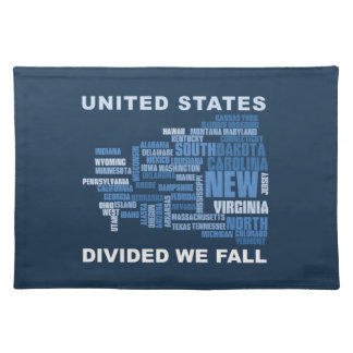 United States Divided We Fall HQ Colored Gifts Placemat