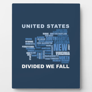 United States Divided We Fall HQ Colored Gifts Plaque