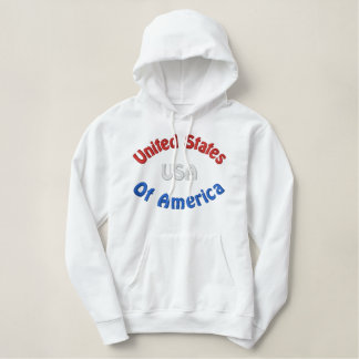 United States Embroidered Hoodie
