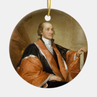 United States First Supreme Court Justice John Jay Ceramic Ornament