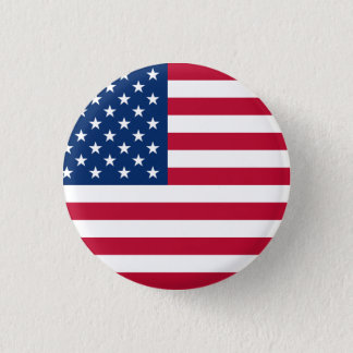 United States Flag 1 Inch Round Button
