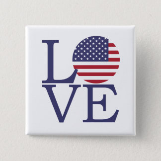 United States Flag 2 Inch Square Button