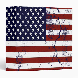 United States Flag 3 Ring Binder