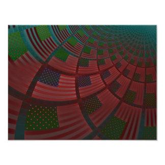 "United States Flag 4.25"" X 5.5"" Invitation Card"