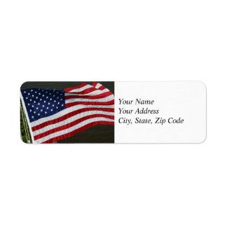 United States Flag Address Label