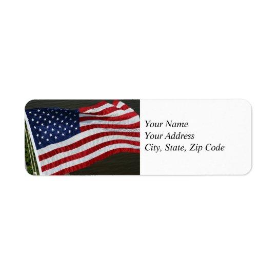 United States Flag Address Label