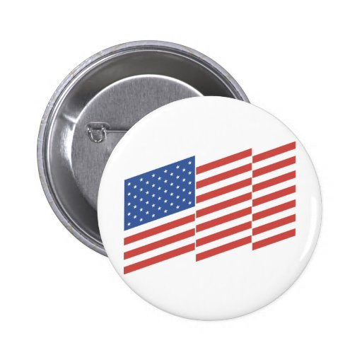 United States Flag Pinback Buttons