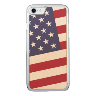 United States Flag Classic Stars and Stripes Carved iPhone 8/7 Case
