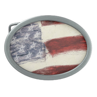 United States Flag Custom Belt Buckle