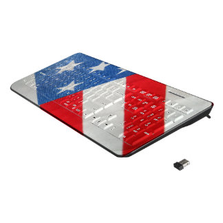 United States Flag Custom Wireless Keyboard