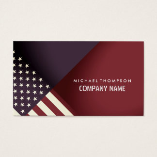 United States Flag Design Business Card