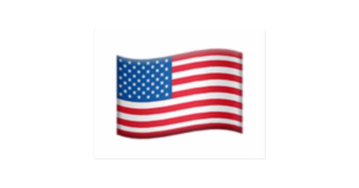United States flag - Emoji Postcard | Zazzle ca
