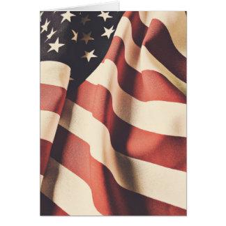United States flag filter Card