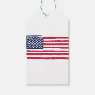 UNITED STATES flag Gift Tags