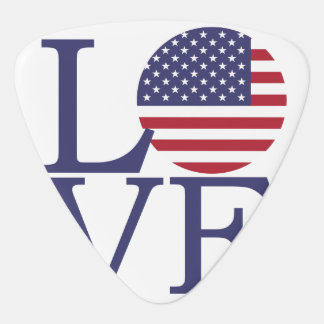United States Flag Guitar Pick