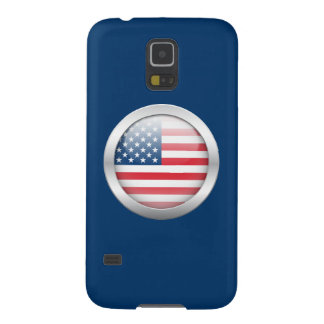 United States Flag in Orb Galaxy S5 Cover