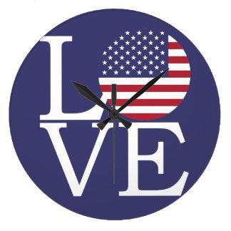 United States Flag Large Clock