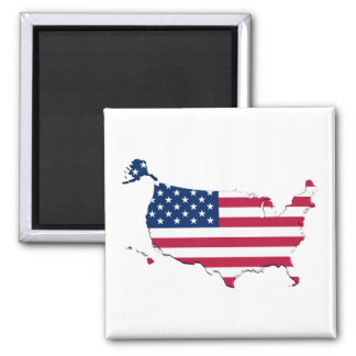 United States Flag-Map Magnet