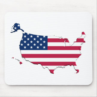 United States Flag-Map Mouse Pad