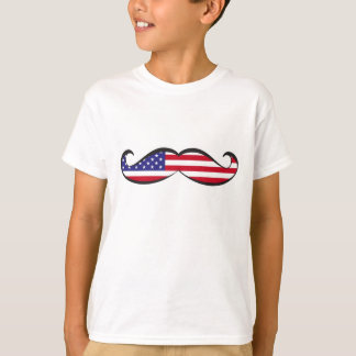 United States Flag Mustache T-Shirt