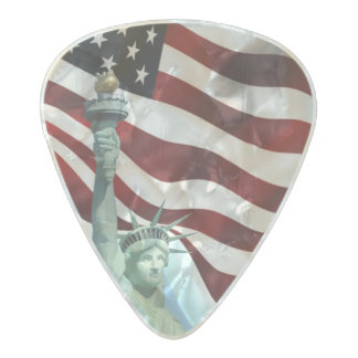 United States flag Pearl Celluloid Guitar Pick
