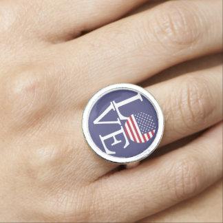 United States Flag Photo Rings