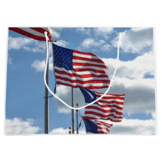 United States Flag Photograph Large Gift Bag