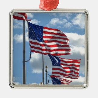 United States Flag Photograph Metal Ornament