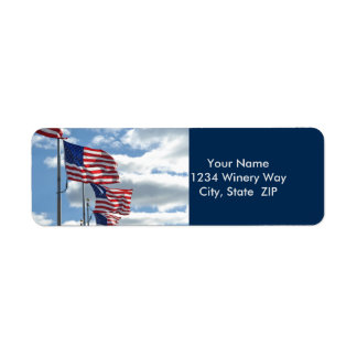 United States Flag Photograph Return Address Label