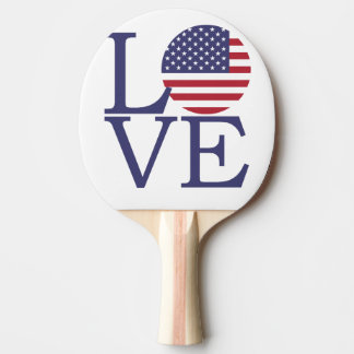 United States Flag Ping Pong Paddle