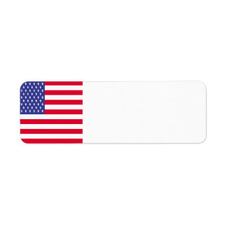 United States Flag Return Address Label
