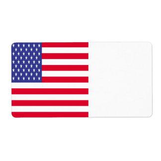 United States Flag Shipping Label