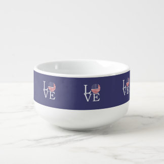 United States Flag Soup Mug