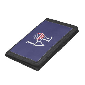 United States Flag Trifold Wallet