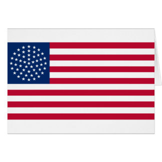 United States Flag with the 51 Stars Card
