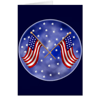 United States Flags Card