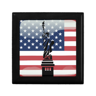 United States glossy flag Keepsake Boxes