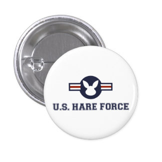 United States Hare Air Force Bunny 1 Inch Round Button