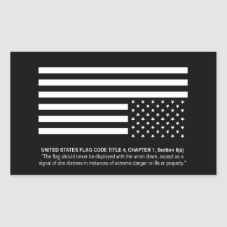 UNITED STATES IN DISTRESS (Flag Code) - Sticker