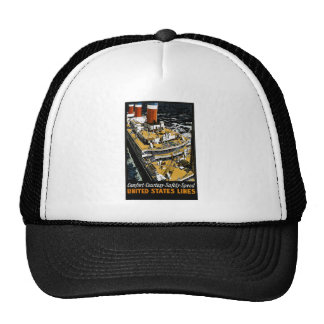 United States Lines Comfort Courtesy Safety Speed Mesh Hat